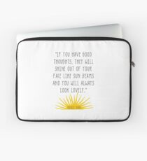 Good Thoughts- Roald Dahl Quote Laptop Sleeve