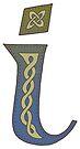 Celtic Knotwork Alphabet - Letter I by Carrie Dennison