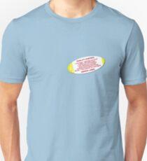 Quality control advice label Unisex T-Shirt