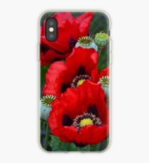 Red poppy flowers iPhone Case