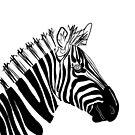 Monochrome Zebra by Adam Regester