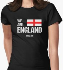 We Are England World Cup Russia 2018 Women's Fitted T-Shirt
