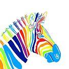 Rainbow Zebra Portrait by Adam Regester