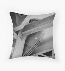 close up of pegasus bridge Throw Pillow