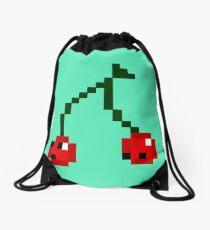 Cherry Twins Drawstring Bag
