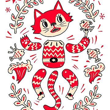 Cat Paper Puppet by HuiSkipp