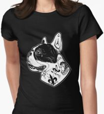 Tattooed French Bulldog Women's Fitted T-Shirt