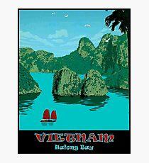 HALONG BAY: Vintage Vietnam Travel Advertising Print Photographic Print