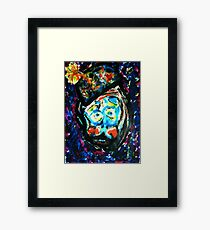 The Unhappy Clown Framed Print