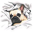french bulldog - @MiudaFrenchie by PaperTigressArt