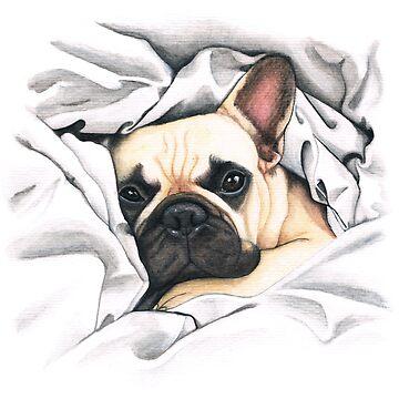 bulldog francés - @MiudaFrenchie de PaperTigressArt