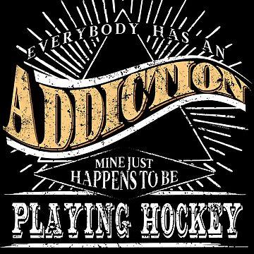 Addiction Is Hockey Shirt Gift Ice Hockey Shirt by shoppzee