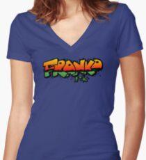FRANKO, The Crazy Revenge Women's Fitted V-Neck T-Shirt