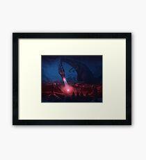 Meditation at Dragon Rock Framed Print