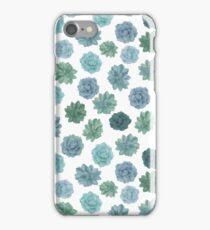 green succulent pattern iPhone Case/Skin