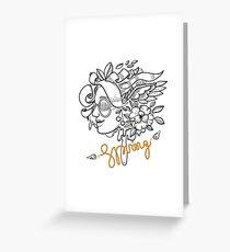 fashion illustration spring girls Greeting Card