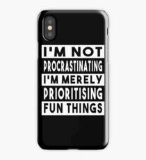 I'm Not Procrastinating (UK Variant) iPhone Case/Skin