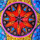 Orange Mandala by Richard-Gary Butler