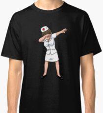 Dabbing Nurse National Nurses Week Nursing Angel Healthcare emergency RN LPN & LVN Syringe apron Classic T-Shirt