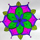 Pink, Green and Purple Mandala by Richard-Gary Butler