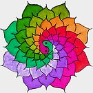 Rainbow Mandala by Richard-Gary Butler