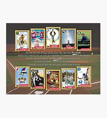 Greatest Baseball Movies with Field of Dreams Quote Photographic Print