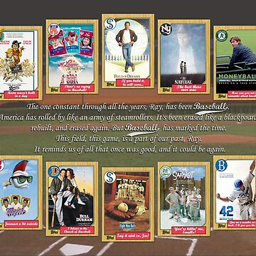 Greatest Baseball Movies with Field of Dreams Quote by Tomreagan