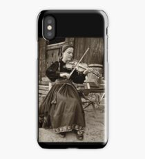 Hardanger fiddle player iPhone Case/Skin