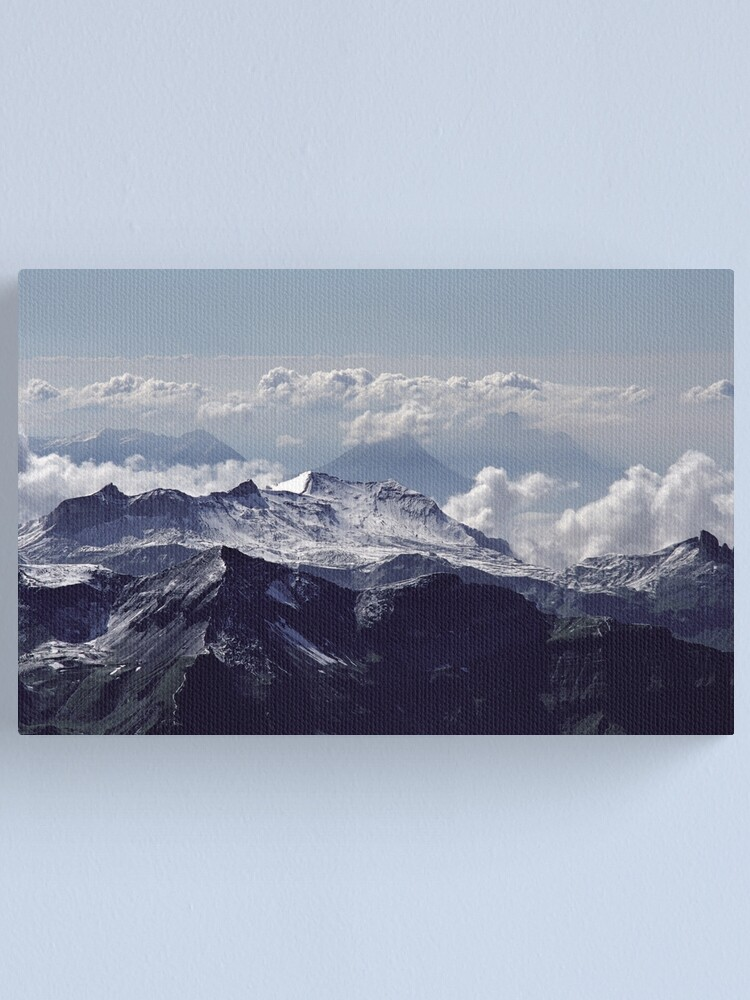 Alternate view of Heavenly view, Bernese Alps Canvas Print