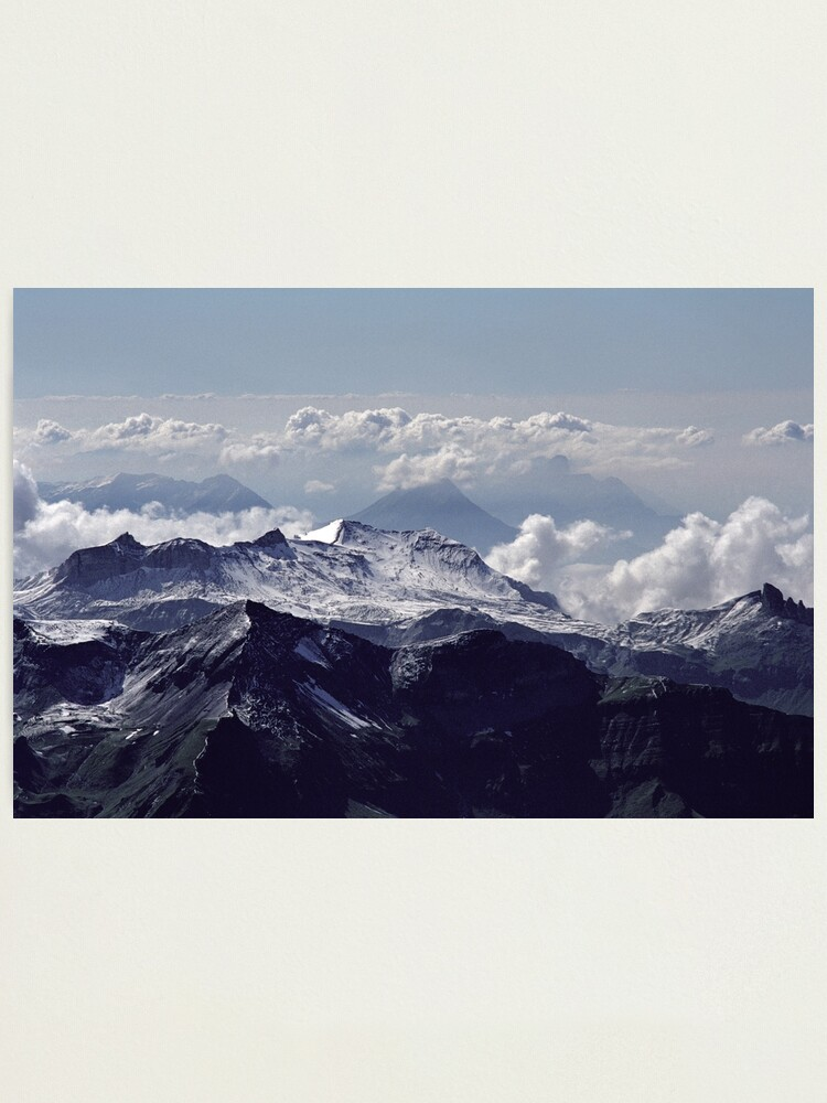 Alternate view of Heavenly view, Bernese Alps Photographic Print