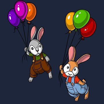 Rabbit Balloons Cute Bunny Valentines Day by underheaven