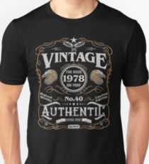 Authentic Aged To Perfection 1978 40th Birthday Present Slim Fit T-Shirt