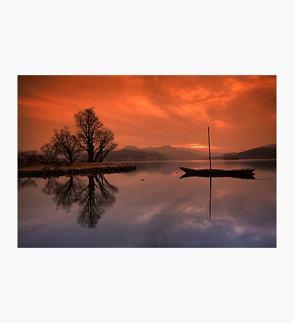 Lonely Boat Photographic Print
