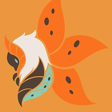 Warmful Flutter - Volcarona by kinokashi