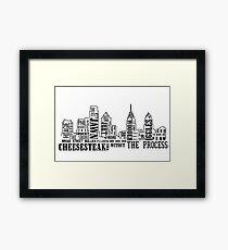 Philly Slang Framed Print