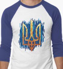 Ukrainian Tryzub with tapestry effect Baseball ¾ Sleeve T-Shirt