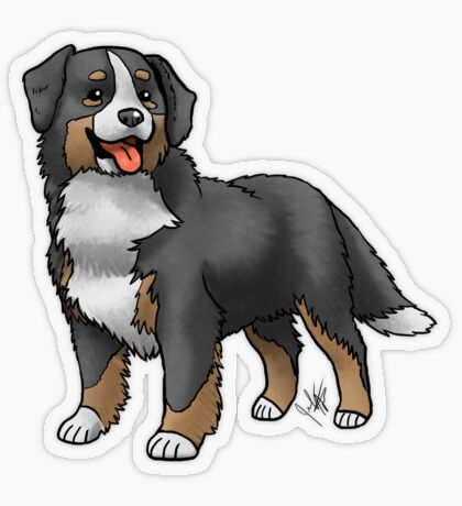 Bernese Mountain Dog Transparent Sticker