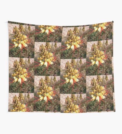 Yellow and Red flower Wall Tapestry