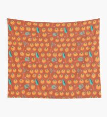 Pumpkins and garden tools Wall Tapestry