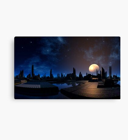 Rising of the Moon Canvas Print