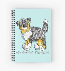 Cute Australian Shepherd Cartoon Spiral Notebook