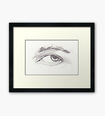 Pencil Study of Left Eye on 200gsm acid-free drawing cartridge Framed Print