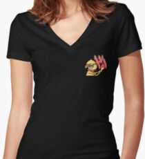Shiny Smeargle Greeting! Women's Fitted V-Neck T-Shirt