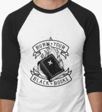 Camiseta ¾ bicolor para hombre Burn Your Black Books