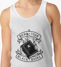 Brennen Sie Ihre schwarzen Bücher Tanktop für Männer