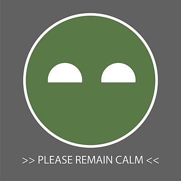 Halo ODST Superintendent - Calm *Sticker by bradyqk