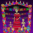 Purple Ómbre Day of the Dead by Cynthia De La Torre