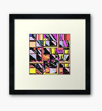 Abstract Color Squares Framed Print