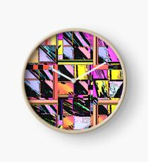 Abstract Color Squares Clock