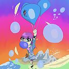 The Bubbles of Blue Balloons by 8bitHeart